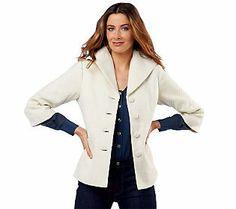 Luxe Rachel Zoe 3/4 Sleeve Tweed Jacket with Wing Collar