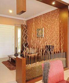 Love the organic yet modern feel of this partition - Functional and Attractive Room Partition