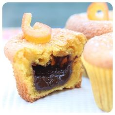 Muffin de Cenoura com Surpresa de Chocolate - Receitas de Muffin - I COULD KILL FOR DESSERT