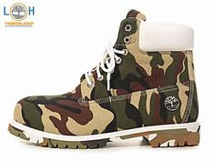 White Camouflage Timberlands Boots