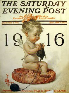 1916 New Year cover for The Saturday Evening Post by J.C. Leyendecker