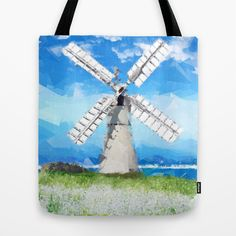 Windmill Tote Bag by Vadim Cherniy - $22.00