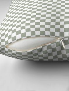 """Desert Sage Grey Green and White Check"" Throw Pillow by podartist Designer Throw Pillows, Iphone Wallet, Pillow Design, Green And Grey, Sage, Deserts, Community, Pattern, Salvia"
