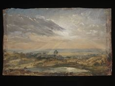 Branch Hill Pond, Hampstead, John Constable, about 1821