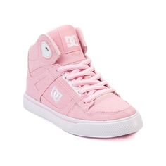 Shop for YouthTween DC Spartan Hi Skate Shoe in Light Pink at Journeys Kidz. Shop today for the hottest brands in mens shoes and womens shoes at JourneysKidz.com.Skate with the courage, strength, and speed of a Spartan warrior! This Journeys Kidz exclusive edition DC Spartan high top features a durable light pink synthetic upper, high padded collar, monochrome lace closure, cushioned footbed, and vulcanized rubber outsole for flexible board gripping traction and control. Available only at…