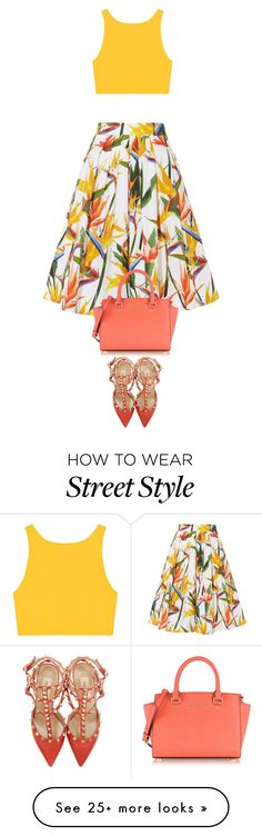"""""""street style"""" by ecem1 on Polyvore featuring Karen Millen, Valentino and Michael Kors"""