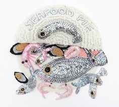 Fishy Friday by #crochet #artist Kate Jenkins