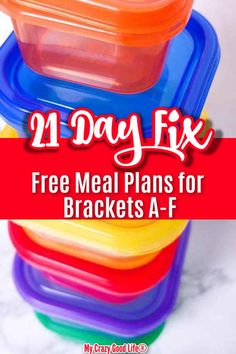This complete 21 Day Fix Meal Plan contains breakfast lunch dinner and snacks. ALL Brackets 21 Day Fix Plans A-F plus easy meal plans for beginners! 1200 1500 1800 2100 2300 and 2500 calories! Lose of Fat Every 72 Hours! Learn the Fast Weight Loss 21 Day Meal Plan, 21 Day Fix Meal Plan, Easy Meal Plans, Free Meal Plans, Easy Meals, 21 Day Fix Menu, 21 Day Fix Snacks, Beachbody 21 Day Fix, 21 Fix