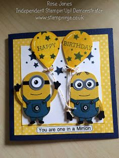 Stamp Ninja: Minions Birthday Card