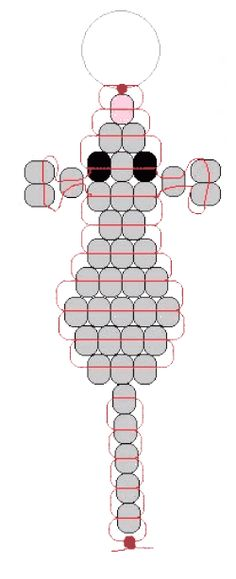 pony bead mouse