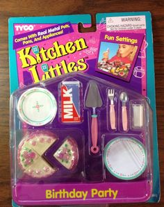 Kitchen Littles by Tyco Birthday Party Set, 1995 - I bought this set on E-Bay.