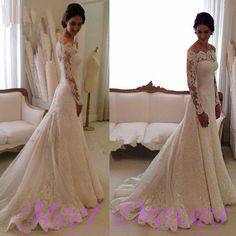 Lace Wedding Dress 2015 New Styles Boho Wedding Gown With Long Sleeves Train Country Wedding Gown For Fall Winter