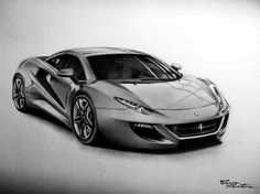 Ferrari FT12 - Desen în Creion de Corina Olosutean // Ferrari FT12 - Pencil Drawing by Corina Olosutean