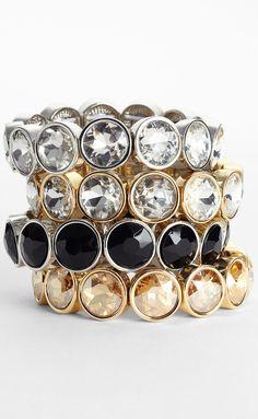 Lydell NYC Crystal Stretch Bracelet