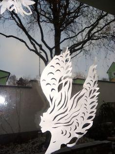 moje vystřihovánky s papíru...andělé..