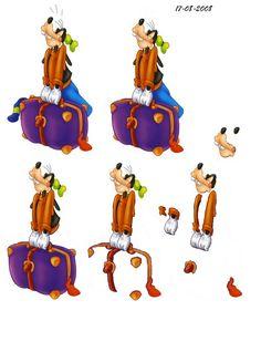 knipvel disney Disney Theme, Walt Disney, 3d Paper, Paper Crafts, 3d Sheets, Disney Cards, Image 3d, 3d Pictures, 3d Cards