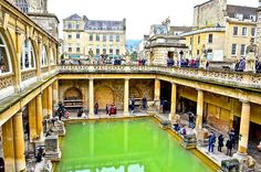 The Roman Baths, Bath, Somerset, England, UK   instagram: @queenetjuin   Around the world. Lonely Planet. Places to Go. Places to See. Travel and Leisure. Travel and Life. Travel and Living. Travel the World.  #romanbaths #unitedkingdom #greatbritain