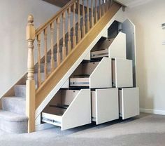 Top 70 Best Under Stairs Ideas - Storage Designs Scrap Wood Projects, Diy Furniture Projects, Repurposed Furniture, Staircase Storage, Staircase Design, Staircase Ideas, Under Stairs Cupboard, Under Stairs Storage Drawers, Attic Storage