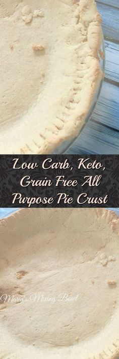 Low Carb, Keto, Grain Free All Purpose Pie Crust - We have to have someplace to put all those delicious per fillings don& we? This pie crust is perfect for all your sweet pie needs. Low Carb Deserts, Low Carb Sweets, Atkins Recipes, Low Carb Recipes, Low Carb Pie Crust, Pie Crusts, Pain Keto, Sweet Pie, Grain Free