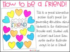 Are you looking for some awesome Back to School activities that are perfect for kindergarten, first grade, and second grade? Check out this set of anchor charts and class posters that will help with Meet the Teacher, School Rules and Classroom Management, along with establishing friendships and teaching kindness to your little learners! Use these interactive printables on poster board or on bulletin boards to make your make your back to school the best yet!