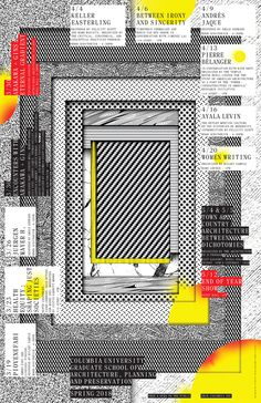 Get Lectured: Columbia GSAPP, Spring '18. Poster courtesy of the school. | Archinect