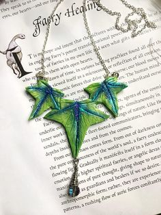 Ivy Necklace Polymer Clay Wicca Magic Elf Jewelry