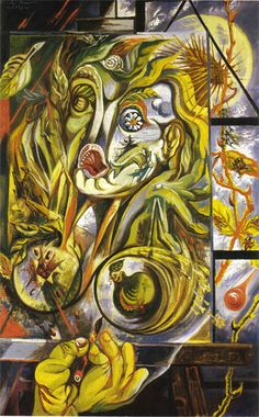 The painter and the time Artist: Andre Masson Completion Date: 1938 Style: Surrealism Genre: symbolic painting