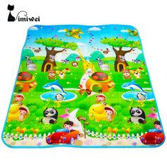 check discount imiwei brand double sided animal carfruit letter baby play mats crawling pad kids game #rug #padding