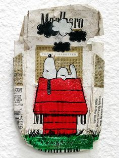 trashART by Rohitash Rao. Paintings and illustrations on smashed cans, papercups, fast food containers and more. turning them into canvases worth keeping.