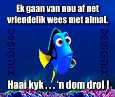 'n dom drol! Afrikaanse Quotes, Funny Quotes, Funny Memes, Funny Pictures, Funny Pics, Paper Craft, Breathe, Fishing, African