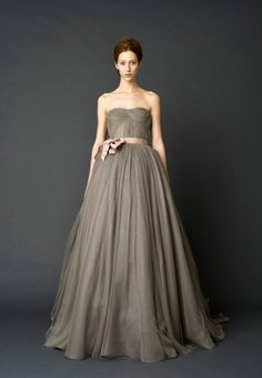 VERA WANG....love gray for a wedding dress