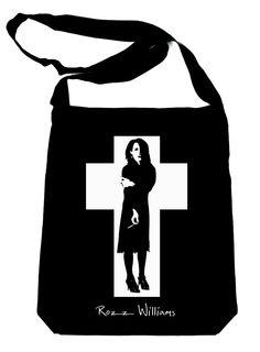 Rozz Williams on Black Sling Bag Gothic Deathrock Christian Death
