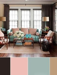 Home Decor Brown Color Schemes Living Room Colour Design, Living Room Color Schemes, Living Room Colors, Living Room Paint, Bedroom Colors, Living Room Designs, Shabby Chic Living Room, Living Room White, White Rooms