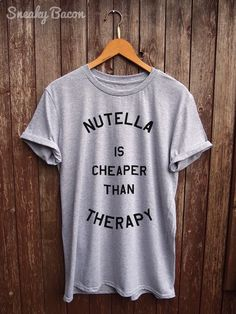 Nutella tshirt funny t-shirts funny nutella by SneakyBaconTees