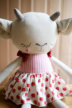 Handmade Girl Goat Cloth Doll