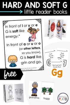 Learning hard and soft g words can be tricky! These little reader books help so much as students learn the difference! #hardg #softg #hardandsoftg #littlereaderbooks Soft G Words, G Sound, Reading Comprehension Strategies, Learning Letters, Kindergarten Reading, Letter Sounds, Reading Skills, Student Learning, Homeschool