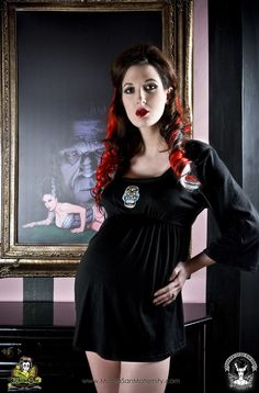 Dia de los Muertos Sugar Skull black maternity by mamasanmaternity, $38.00