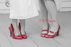 Love the red shoes for mother daughter photoshoot Red Shoes, Kitten Heels, Daughter, Photoshoot, Kids, Photography, Fashion, Red Dress Shoes, Young Children