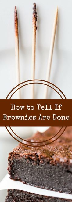 How do you know when brownies are done? This handy guide will help you know exactly when your brownies are ready to come out of the oven! via @recipeforperfec Best Dessert Recipes, Easy Desserts, Sweet Recipes, Delicious Recipes, Easy Recipes, Baking Tips, Baking Recipes, Baking Ideas, Sports Food