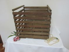 Wood Egg Crate Primitive Slatted Box read details by @LuRuUniques #vintage #storage
