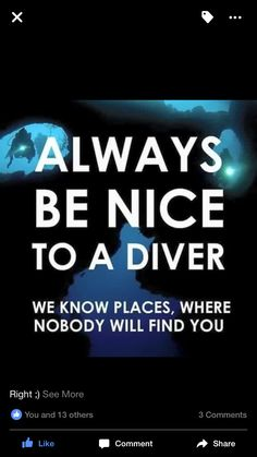 Funny diving quote