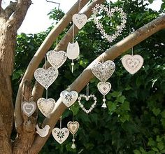 Heart Collection Vintage Chic Distressed Decorations Wedding Favours Favors…