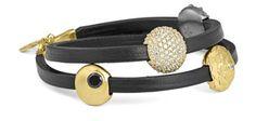 #bybiehl #leatherbracelet #gold #zirconia #sparkle #danishdesign
