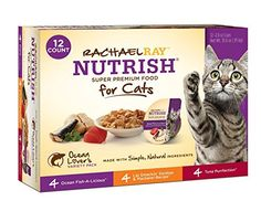Rachael Ray Nutrish Natural Wet Cat Food, Variety Pack, Fish Lovers, 2.8 oz tub by Rachael Ray Nutrish * Check out this great sponsored product.