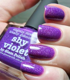 piCture pOlish Shy Violet - Swatches and Review | Pointless Cafe
