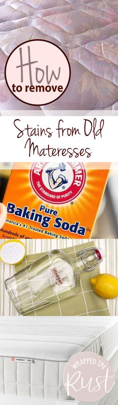 How to Remove Stains from Matresses, Removing Stains from Matresses, How to Easily Remove Stains from Matresses, Home Organization, Clean Home, Clean Everything, How to Clean Everything, How to Clean a Matress. Popular Pin