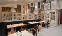 Restaurant interiors made out of salvaged doors & windows. #interiors
