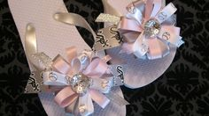 Chicago White Sox Flip Flops by JuliaBowTiques on Etsy, $10.00