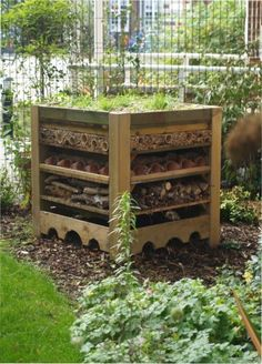 a newly built bug house - not entirely sure how I feel about this