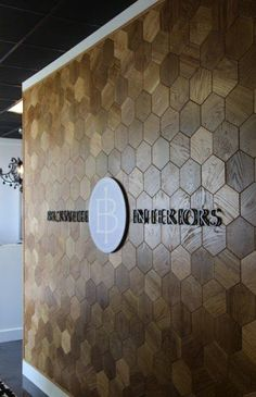 office entry accent/statement wall | Beckwith Interiors: Hive Entry Wall